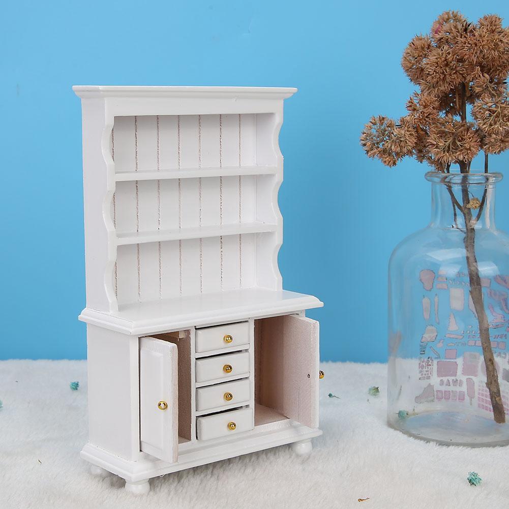 Sale 70% Tủ có ngăn kéo bằng gỗ trang trí nội thất cho nhà búp bê tỷ lệ 1/12, White Giá gốc 157,000 đ – 18A6