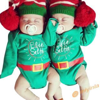 Bộ áo liền quần in chữ giáng sinh dễ thương cho trẻ sơ sinh