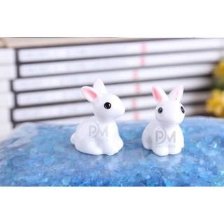 Charm thỏ ngồi _ Nguyên liệu làm slime