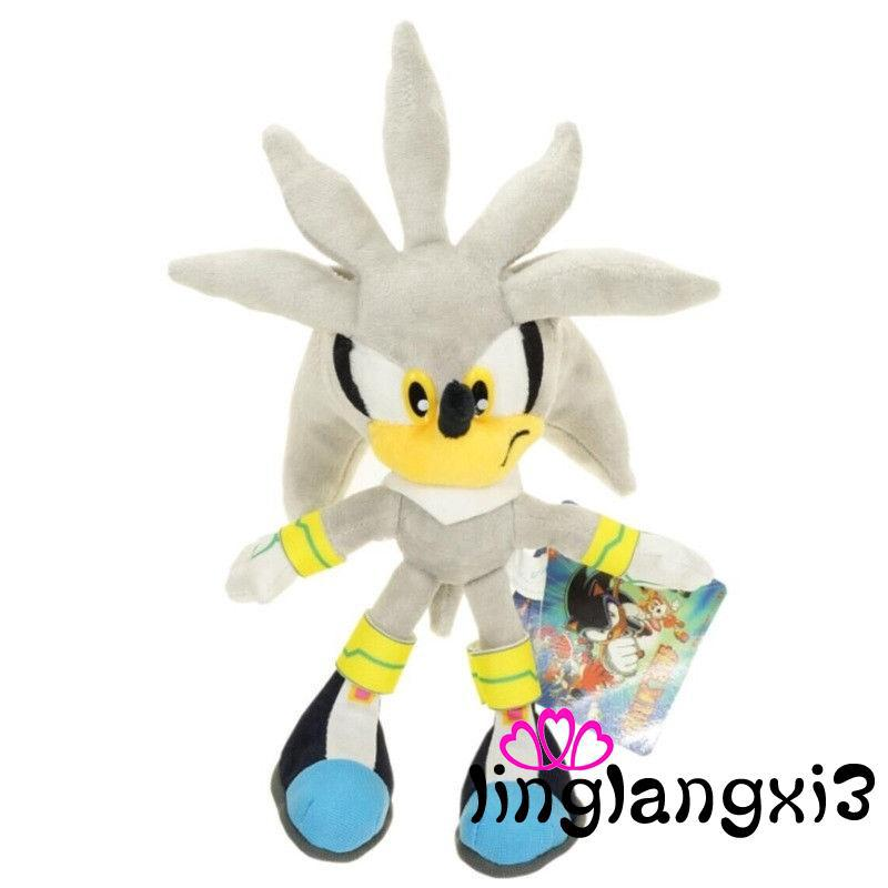 V3N-Silver Sonic The Hedgehog Action Figure Gift Stuffed Plush Soft Doll Toy