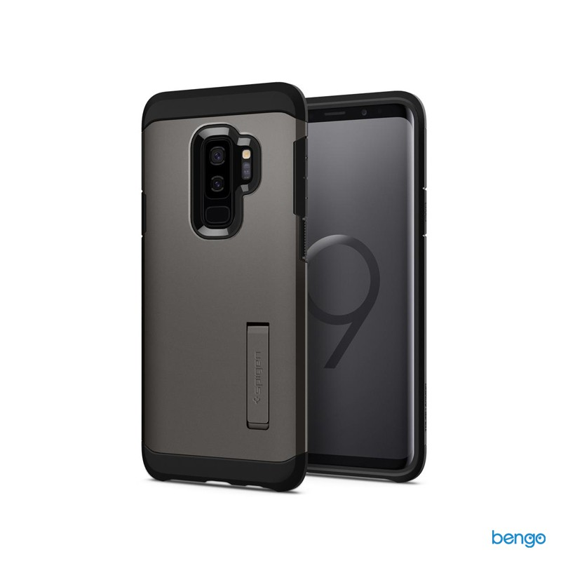 Ốp lưng Samsung Galaxy S9 Plus SPIGEN Tough Armor - Gunmetal