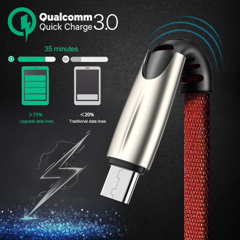 [Mã FSS12DEC giảm 20% đơn từ 0K]Dây cáp sạc nhanh 5A Micro USB / Type-C /Lightning chống rối và xoắn tiện dụng