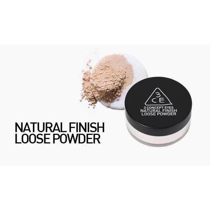 Phấn Phủ Bột 3CE Natural Finish Loose Powder