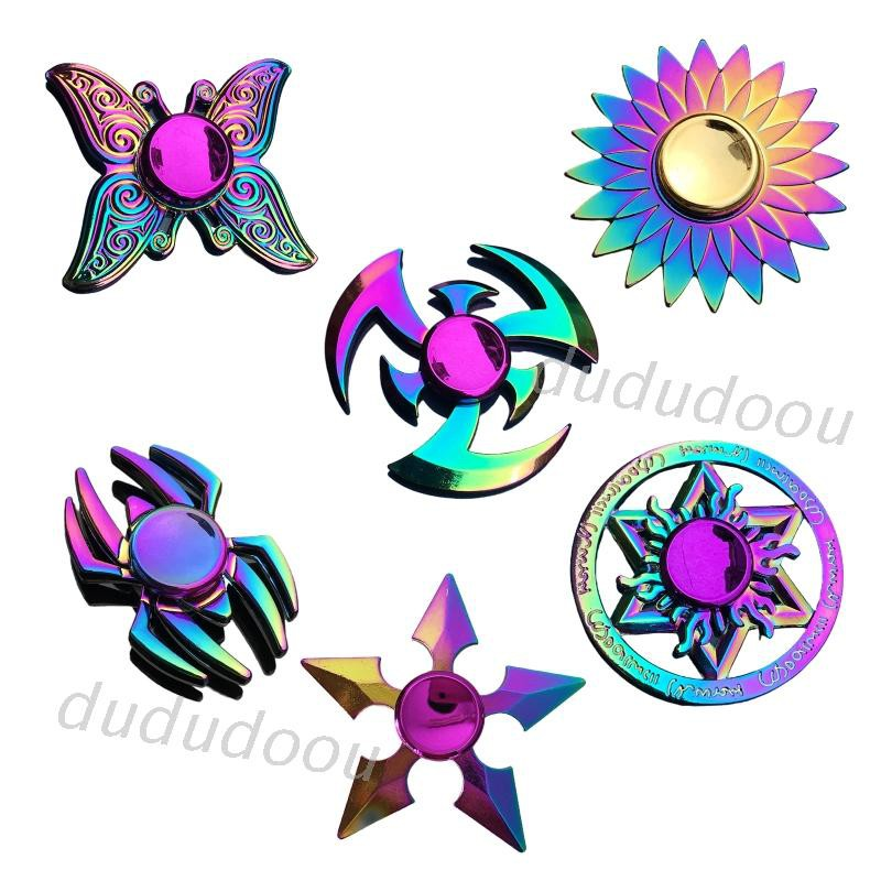 New Metal Colorful Butterfly Dart Lotus Stress Relief Finger Spinner Kids Toy