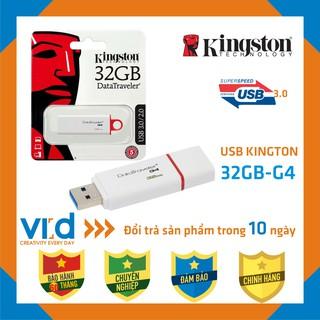 [Mã ELFLASH5 giảm 20K đơn 50K] [USB 3.0 CHÍNH HÃNG] USB King.Ston 3.0 DataTraveler G4-32GB - Bảo hành 60 tháng !!
