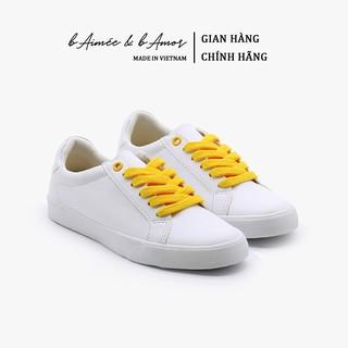 Giày Sneaker Nữ bAimée & bAmor Thể Thao Màu Trắng Cổ Thấp Đế Bằng - MS978 thumbnail