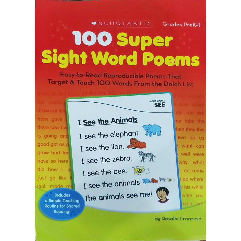 Sách - 100 super sight word poems