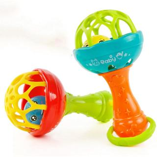 Baby Toy Rattles Intelligence Grasping Gums Plastic Hand Bell Funny Educational Toys Ready Stock