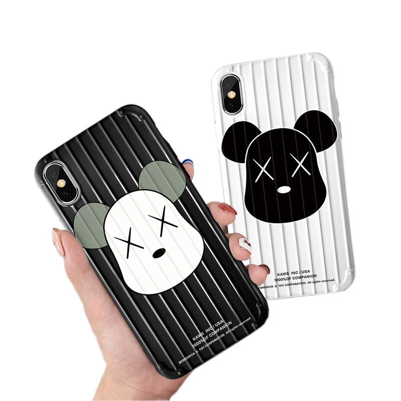 Ốp điện thoại silicone TPU in hình gấu cho iPhone 6/6s/6p/6sp/7/7p/8/8p/X/Xs/Xsmax 11 11Pro 11Promax Kaws XX Case