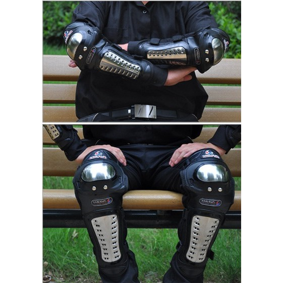 Giáp bảo vệ chân tay inox dài