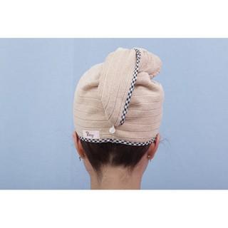 Hình ảnh Mũ quấn tóc POÊMY SỌC GÂN - Mũ quấn tóc Poêmy siêu tiện lợi, thấm hút khô nhanh-3