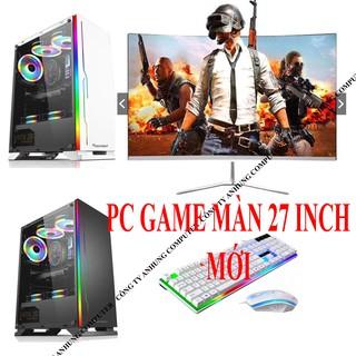 [MÁY MỚI] Bộ máy tính chơi GAME 27 inch MỚI full HD, Main H61 chip intel i5 3470 ổ SSD điện tử CARD RỜI VGA NÂNG CẤP