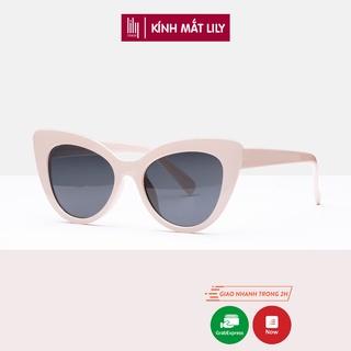 Kính râm nam nữ Lilyeyewear mắt mèo chống UV400 thiết kế độc đáo BTS Hè 2021 R0009 thumbnail