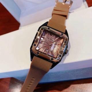 Đồng hồ guou nữ mặt vuông dây silicon, bảo hành 12 tháng, tặng box