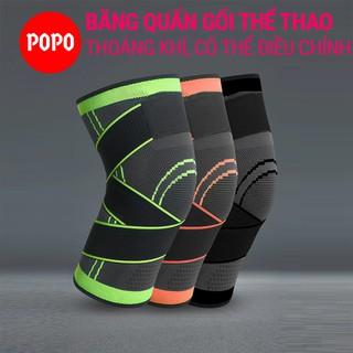 Băng quấn đầu gối tập gym, khớp gối thể thao chạy bộ tránh chấn thương siêu co giãn có dây đai cố định hiện đại POPO thumbnail