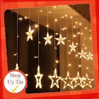 Đèn nháy thả mành hình ngôi sao 12 đèn