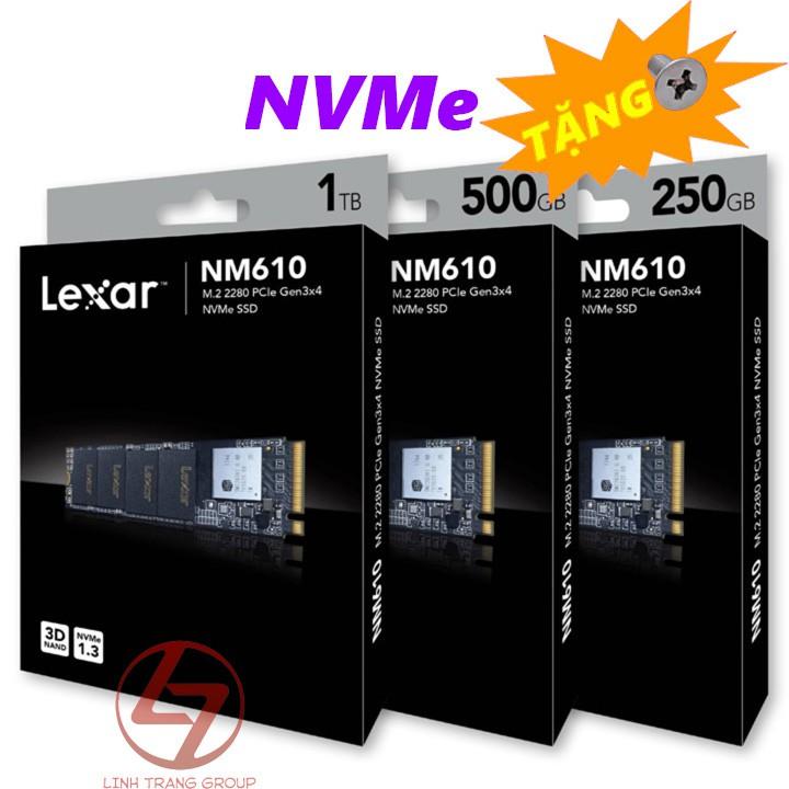 Ổ cứng SSD PCIe NVMe Lexar NM610 250GB 500GB 1TB - bảo hành 3 năm SD20 SD21 SD22