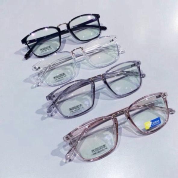 [BH 1 ĐỔI 1] Mắt Kính Giả Cận Thời Trang Nam Nữ P194 Style Hàn Quốc Cao Cấp Gọng Dẻo