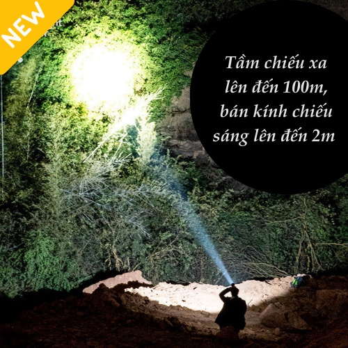 Đèn Pin Siêu Sáng, Đèn Pin Đội Đầu Đeo Trán 5 Bóng Led, ĐÈN DUY THẮNG