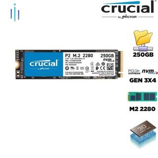 Ổ cứng SSD Crucial P2 250GB NVMe 3D-NAND M.2 2280 PCIe Gen3 x4 CT250P2SSD8 thumbnail