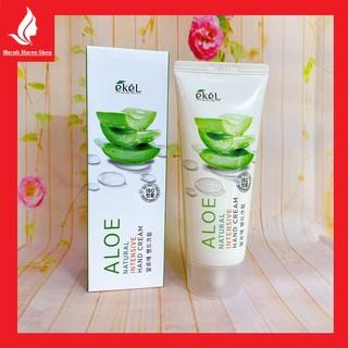 [Chính Hãng ] Gel dưỡng da tay Ekel Aloe Natural Intensive Hand Cream mềm mịn cao cấp tuýp 100ml