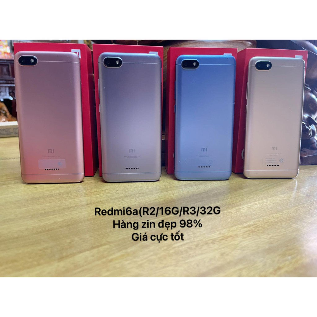 Điện thoại Xiaomi Redmi 6A 2sim ram 2g 16g  r3 32G có tiếng việt nguyên zin, đẹp 98%