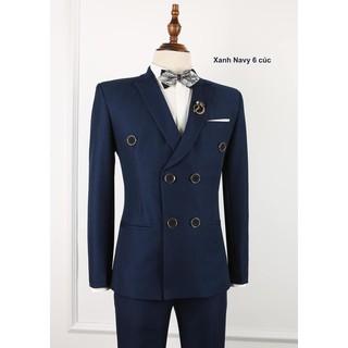Bộ vest nam màu xanh navy 6 cúc sang trọng