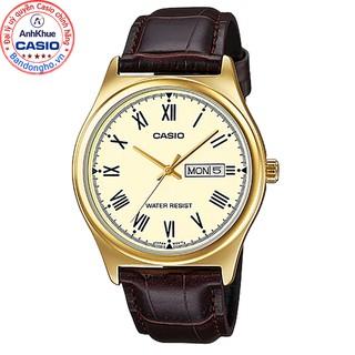 Đồng hồ nam Casio MTP-V006GL-9BUDF Chính hãng - Dây da - Mặt La mã - Mạ Vàng thumbnail