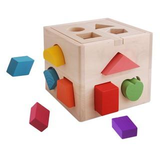 Hộp thả hình khối – đồ chơi giáo dục, đồ chơi gỗ