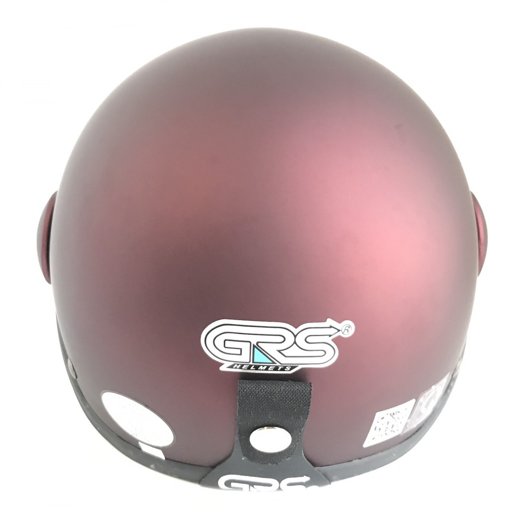 Mũ bảo hiểm nửa đầu có kính - Dành cho người lớn vòng đầu 56-58cm - GRS A33K - Táo nhám - Nón bảo hiểm Nam - Bảo hiểm Nữ