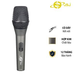 Micro karaoke có dây JSJ GL-8.0S thiết kế lưới tản nhiệt cổ điển, giảm tạp âm, chống nhiễu, thân kim loại được phủ nhám