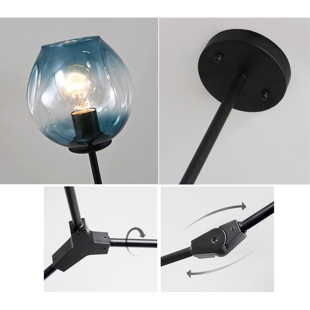 Đèn chùm MONSKY PUN trang trí nội thất hiện đại - kèm bóng LED chuyên dụng