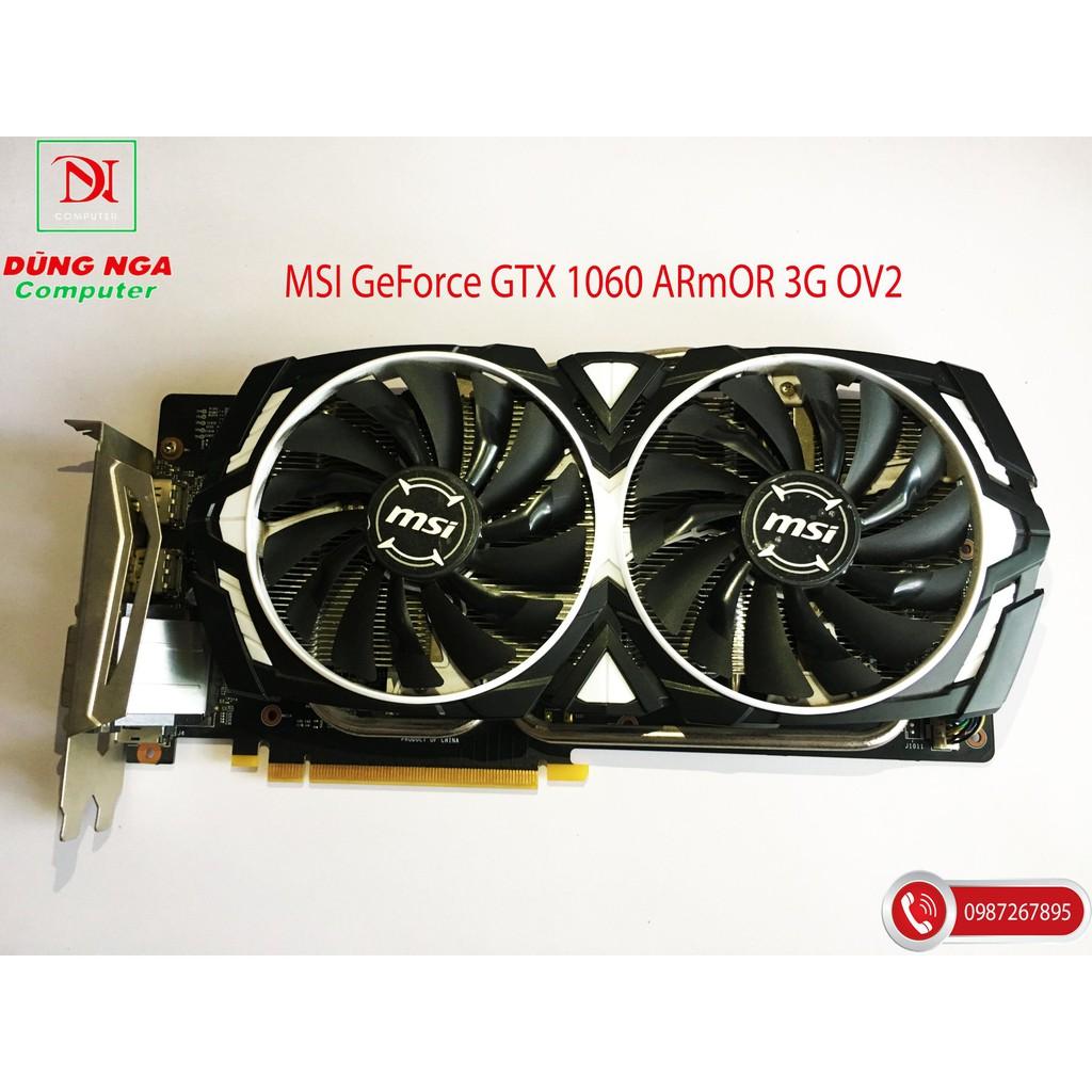 VGA - Card màn hình MSI GTX 1060 ARMOR 3G OCV1 BH 2020