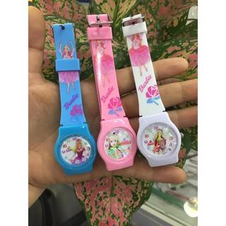 Đồng hồ đeo tay thời trang trẻ em Barbei dễ thương