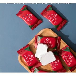 [Mã SRJULY1215 giảm 20K đơn 50K] Khăn giấy ướt dạng nén Hàn Quốc - Tiện lợi khi đi du lịch, bỏ túi thumbnail