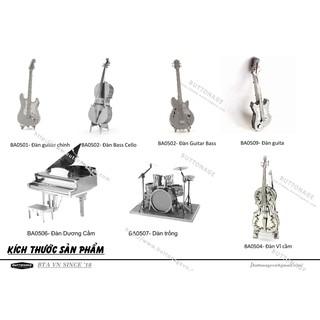 Mô Hình Lắp Ráp 3d 7 mẫu đàn ghita violin dương cầm