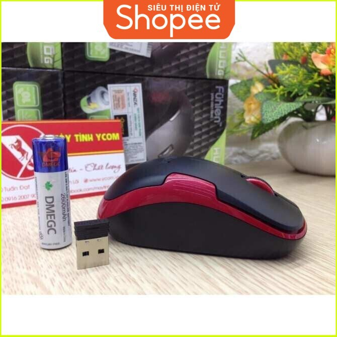 {SALE SIÊU KHỦNG} Chuột quang không dây thương hiệu Fuhlen A06G (Đỏ) Giá chỉ 186.250₫