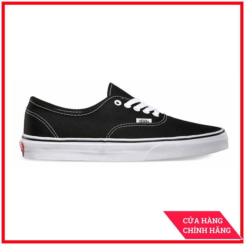 Giày Sneaker [REAL] Vans-Authentic-Black-White-VN000EE3BLK