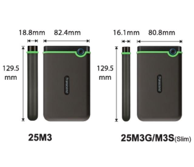 Ổ Cứng Di Động Transcend M3S 1TB Slim USB 3.0