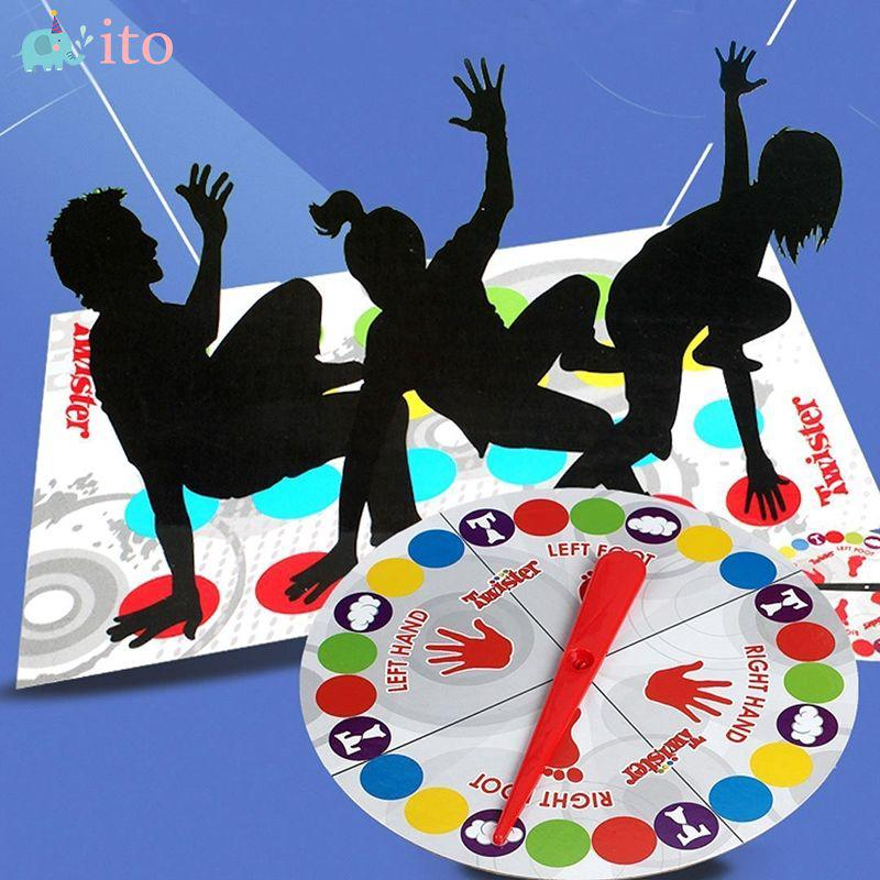 ITO Funny Twister Classic Game Crafts Body Twist Family Party Interactive Game