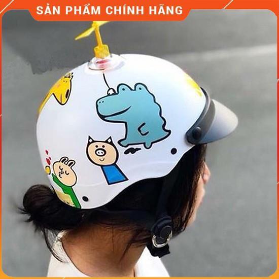 Mũ bảo hiểm nửa đầu Hươu cao cổ thời trang - Hình thú + Tặng 1 chóng chóng cute (Hoặc 1 thú nhún Emoji)