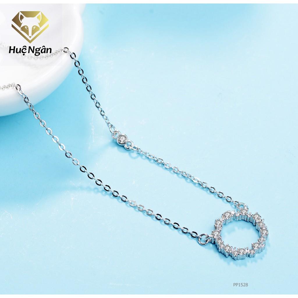 Dây chuyền bạc Ý 925 Huệ Ngân - Huyền thoại biển xanh PP1528