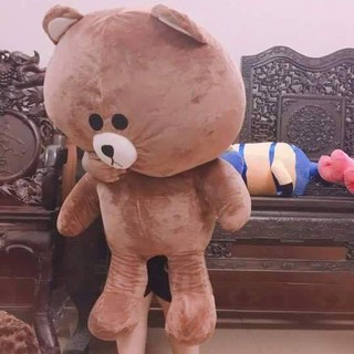 [ HOT SALE ] Gấu Bông Brow khổ vải 1m cao 80cm