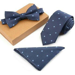 Bộ khăn, nơ, cà vạt cao cấp Hàn Quốc