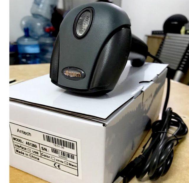 Máy quét mã vạch, máy đọc mã vạch đơn tia 1D cao cấp Antech AS-1280i