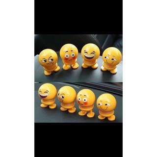 Thú nhún Emoji lò xo ô tô hình biểu tượng cảm xúc ZHENGFENG