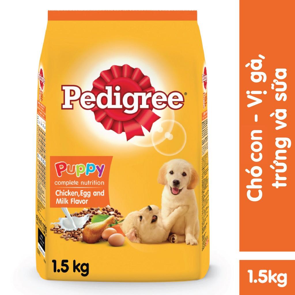 Thức ăn chó con Pedigree vị gà & trứng túi 1.5kg