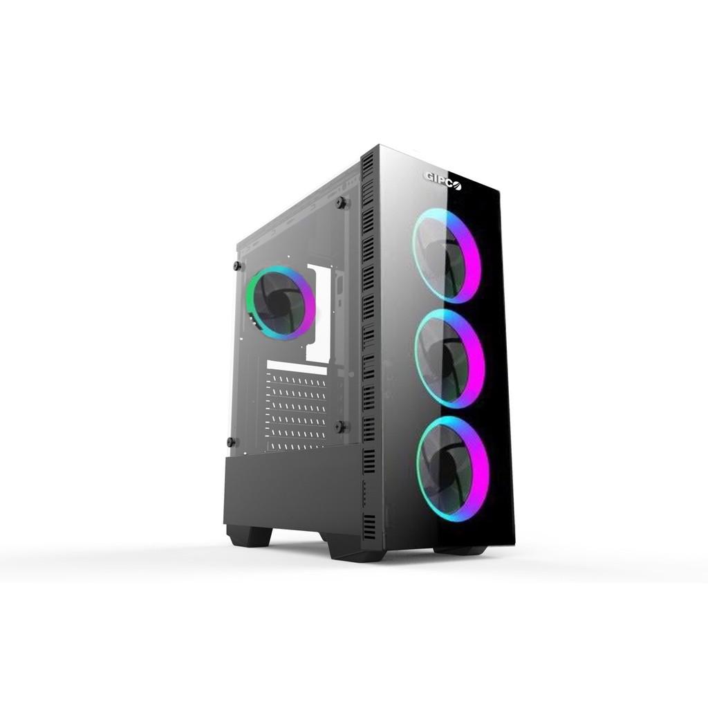 Vỏ case máy tính GIPCO Gaming đã kèm 3 FAN LED