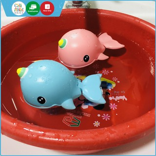 Đồ chơi thả bồn tắm - Cá heo thả chậu tắm lên dây cót bơi lội tung tăng cho bé thumbnail