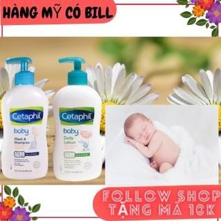 (có bill nhập)Tắm gội Cetaphil Baby Wash Shampoo with organic 399ml, order Mỹ thumbnail